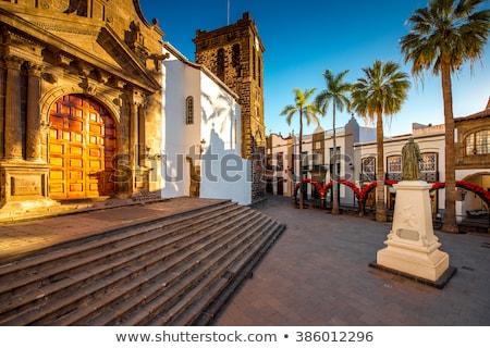 Santa Cruz de La Palma Plaza de Espana Iglesia Stock photo © lunamarina