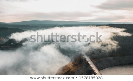 Panorama of Beautiful Mountain Landscape with Low Clouds Stock photo © maxpro