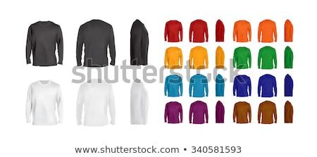 Kék hosszú ujjú pólók fénykép kettő ráncos Stock fotó © sumners