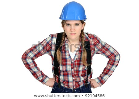 craftswoman looking angry Stock photo © photography33
