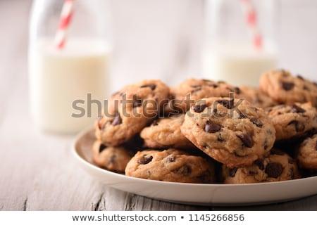 Taze kurabiye süt kuru üzüm Stok fotoğraf © fotogal
