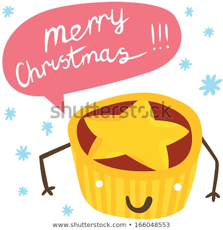 smiling mince pies stock photo © danielgilbey