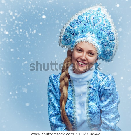 Portrait of a attractive Snow Maiden Stock photo © acidgrey