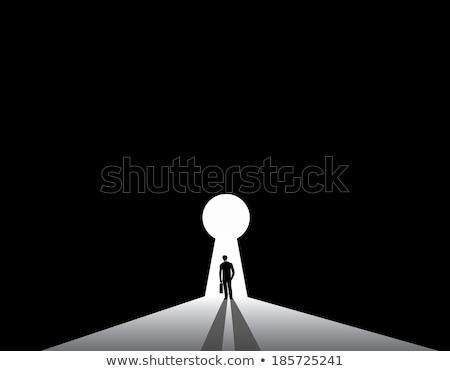 Young man with a doorkey Stock photo © photography33