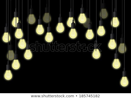 Light Bulb With Cord On Floor Black Stock photo © albund