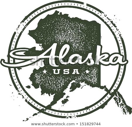 アラスカ州 スタンプ ヴィンテージ スタイル ベクトル 旅行 ストックフォト © squarelogo