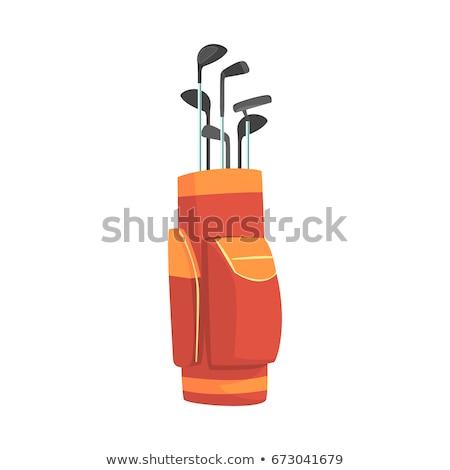 Táska golfütők izolált fehér golf sport Stock fotó © konturvid