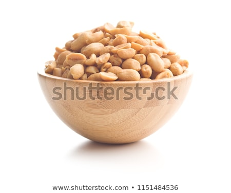 salted peanuts nuts in a small bowl stock photo © ewastudio