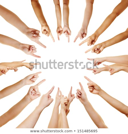 Circle of fingers point to the center stock photo © Pasiphae