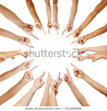 Círculo dedos ponto centro mãos mão Foto stock © Pasiphae