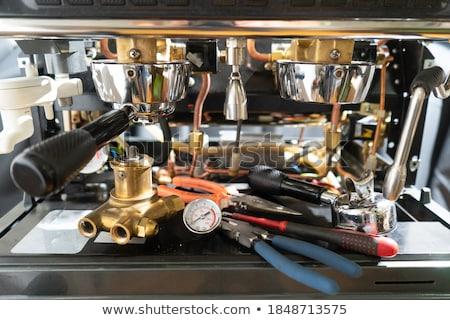 кофе двигатель 3d визуализации кружка передач Сток-фото © Florisvis