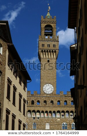 Florence - the view on  Palazzo Vecchio from the dome Duomo Stock photo © wjarek