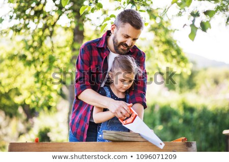 Father and daughter DIY Stock photo © photography33