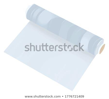 Roll of plastic food wrapper on white  Stock photo © JohnKasawa