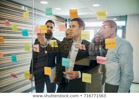 Problémák üzletember diagram tabletta üzlet kéz Stock fotó © silent47