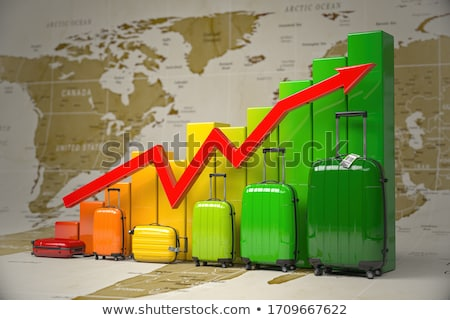Negócio estrondo financiar mercado gráfico traçar Foto stock © 4designersart