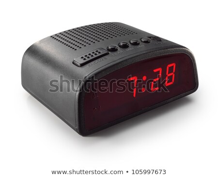 Digital alarm clock radio isolated Stock photo © shutswis