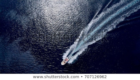 Boat white wake on the blue ocean sea Stock photo © lunamarina