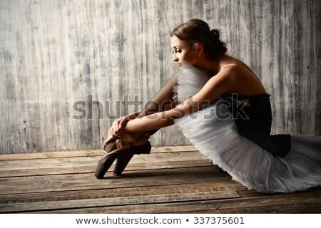 benen · mooie · ballerina · schoenen · beton - stockfoto © tobkatrina