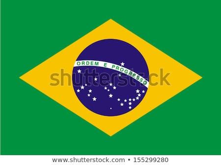 banderą · Brazylia · wiatr · niebo · gwiazdki · zielone - zdjęcia stock © stevanovicigor