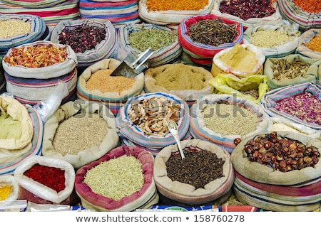 mixed spices in market of cairo egypt Stock photo © travelphotography