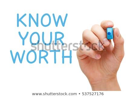 Eccellenza blu marcatore mano iscritto trasparente Foto d'archivio © ivelin
