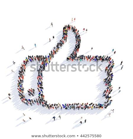 grup · insanlar · gibi · simge · sosyal · ağ · yalıtılmış · beyaz - stok fotoğraf © kirill_m