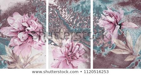 Szürke citromsárga absztrakt művészet festmény kép Stock fotó © t30gallery