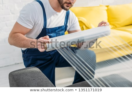 stretch wrapping film stock photo © bdspn