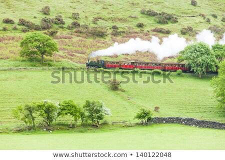 paisagem · vapor · trem · belo · velho · retro - foto stock © phbcz