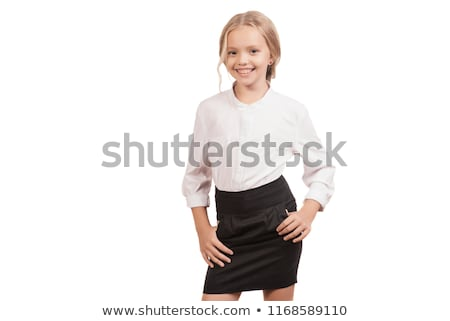 smiling blonde girl posing stock photo © neonshot