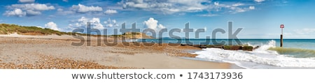 волны голову пород пляж небе закат Сток-фото © flotsom
