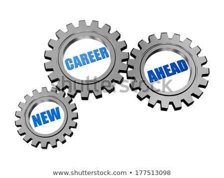 new career ahead in silver grey gears Stock photo © marinini