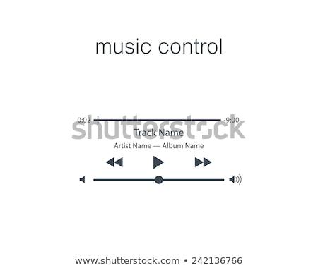Wektora tom muzyki kontroli eps10 Zdjęcia stock © deomis