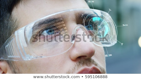 Stock photo: Augmented reality white glasses