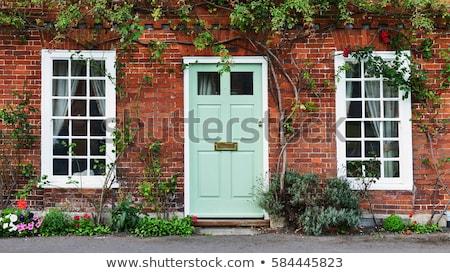 azul · edad · puerta · detalle · manejar - foto stock © kayco