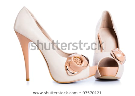 female shoes with buckle isolated in white background stock photo © natika