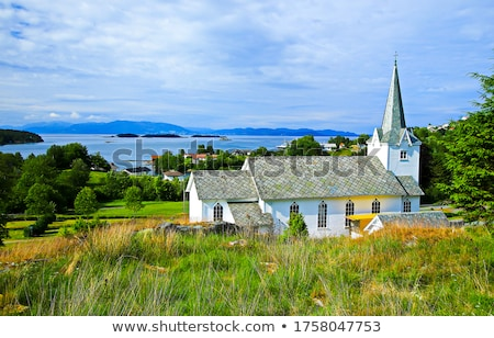 view of traditional church roof Stock photo © taviphoto