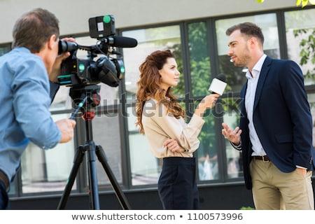 Interviewing businessman Stock photo © wellphoto
