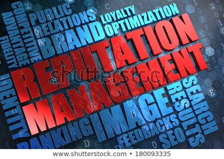 Reputation Management - Red -Blue Wordcloud. Stock photo © tashatuvango