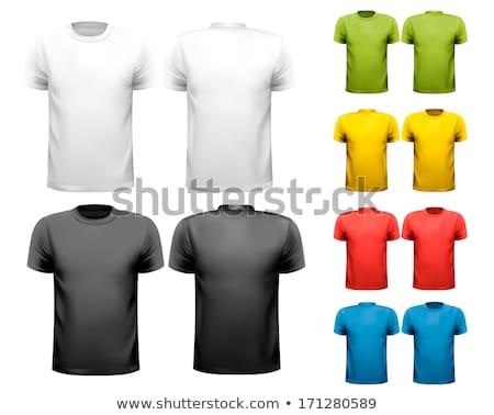 Abstrato colorido tshirt modelo homens Foto stock © pathakdesigner