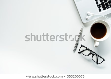 Foto d'archivio: Ufficio · tavola · top · computer · portatile · digitale