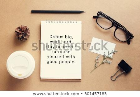 Retro motivációs szett célok magas nem Stock fotó © maxmitzu