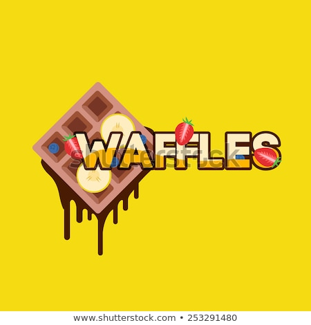 Belgium waffels and banana Stock photo © badmanproduction
