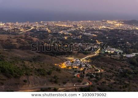 Mijas village at night  Malaga province, Andalusia, Spain. Stock photo © HERRAEZ
