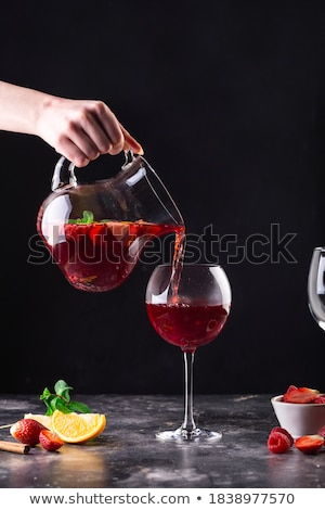 decanter with green fluid stock photo © naumoid