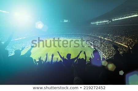 Futebol estádio jogo combinar lâmina céu Foto stock © hin255