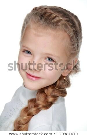 Karcsú csinos fehér nő hajstílus közelkép Stock fotó © dash