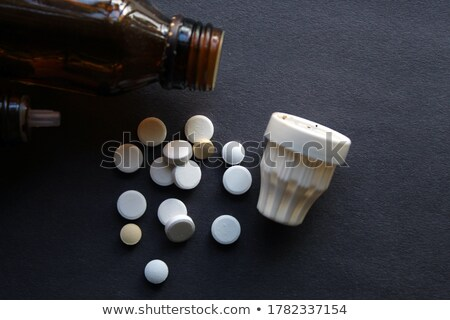 addiction on the display of medical tablet stock photo © tashatuvango