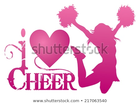 Female cheerleader (jump) Stock photo © bootedcatwebworks